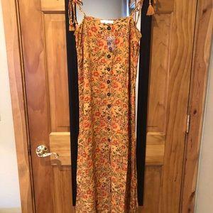 OLIVACEOUS Dress Orange detail Size Medium